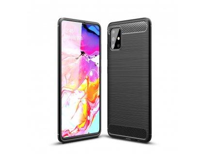 Ochranný kryt na Samsung GALAXY A71 A715F - Tech-Protect, Tpucarbon Black