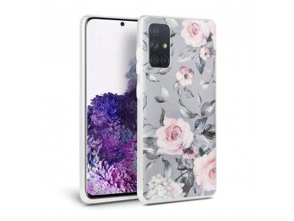 Ochranný kryt na Samsung GALAXY A51 A515F - Tech-Protect, Floral Gray