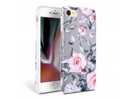 Ochranný kryt pro iPhone 7 / 8 / SE (2020) - Tech-Protect, Floral Gray