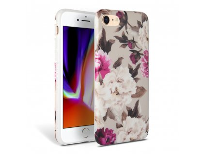 Ochranný kryt pro iPhone 7 / 8 - Tech-Protect, Floral Beige