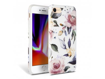 Ochranný kryt pro iPhone 7 / 8 / SE (2020) - Tech-Protect, Floral White
