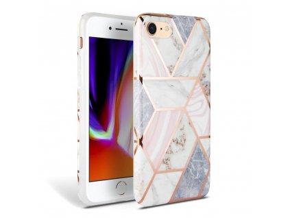 Ochranný kryt pro iPhone 7 / 8 / SE (2020) - Tech-Protect, Marble Pink