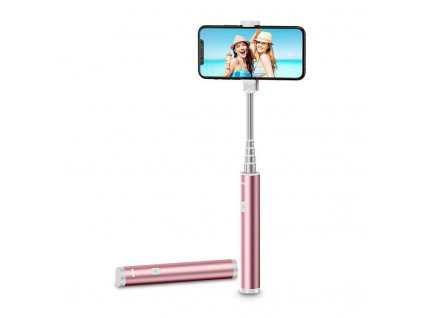 Bluetooth selfie tyč - ESR, Wireless Selfie Stick RoseGold