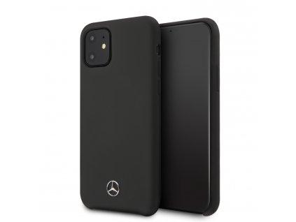 Ochranný kryt na iPhone 11 Pro - Mercedes, Liquid Silicon Black