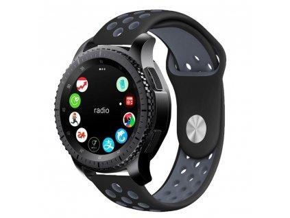 Řemínek pro Samsung Galaxy Watch 42mm - Tech-Protect, Softband Black/Gray