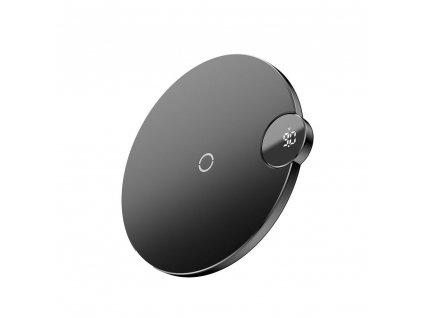 Bezdrátová rychlá nabíječka pro iPhone - BASEUS, Digtal LED Display Black