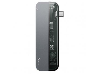 Redukce / adaptér - Baseus, Transparent Multi Port 5in1