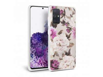 Ochranný kryt na Samsung GALAXY A71 A715F - Tech-Protect, Floral Beige