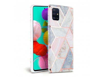 Ochranný kryt na Samsung GALAXY A71 A715F - Tech-Protect, Marble Pink