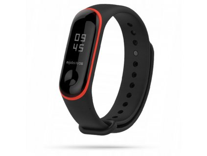 Řemínek pro Xiaomi Mi Band 3 / 4 - Tech-Protect, Smooth Black/Red
