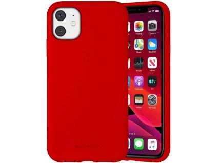 Ochranný kryt pro iPhone 11 - Mercury, Silicone Red