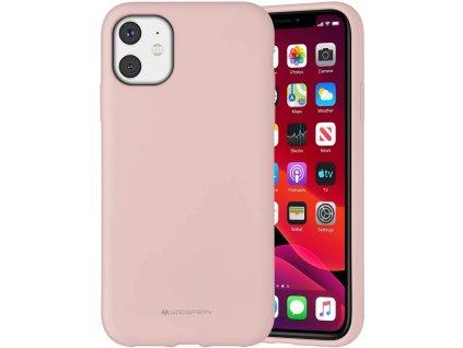 Ochranný kryt pro iPhone 11 - Mercury, Silicone Pink Sand