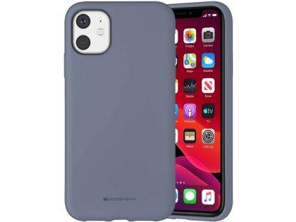 Ochranný kryt pro iPhone 11 - Mercury, Silicone Lavender Gray