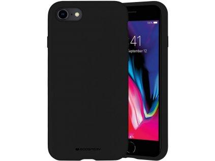 Ochranný kryt pro iPhone 7 / 8 / SE (2020) - Mercury, Silicone Black