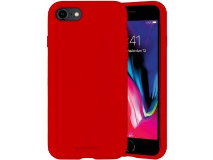 Ochranný kryt pro iPhone 7 / 8 / SE (2020) - Mercury, Silicone Red