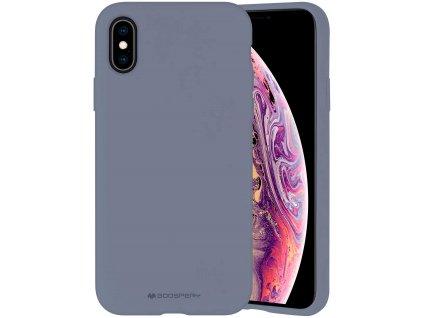 Ochranný kryt pro iPhone XS / X - Mercury, Silicone Lavender Gray