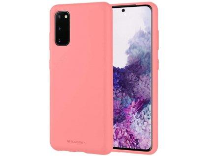 Pouzdro / kryt pro Samsung GALAXY S20 - Mercury, Soft Feeling Pink