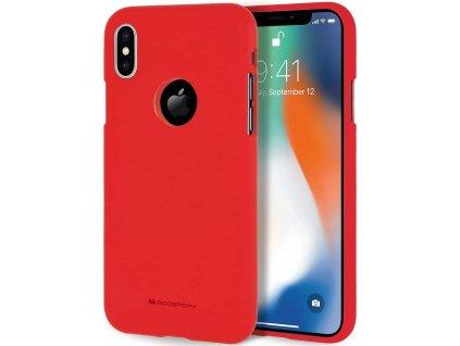 Ochranný kryt pro iPhone XS MAX - Mercury, Soft Feeling Red (Logo Hole)