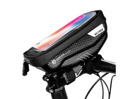 Cyklotaška / brašna na kolo s otvorem na mobilní telefon - WildMan, Sakwa S Black