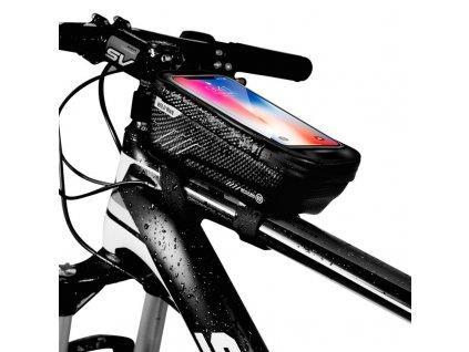 Cyklotaška / brašna na kolo s otvorem na mobilní telefon - WildMan, Sakwa M Black