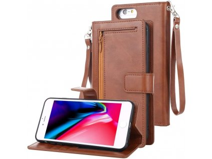 Pouzdro pro iPhone 6 / 6S / 7 / 8 / SE (2020) - Mercury, Detachable Diary Brown