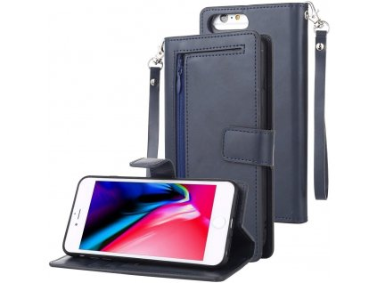Pouzdro pro iPhone 6 / 6S / 7 / 8 / SE (2020) - Mercury, Detachable Diary Navy