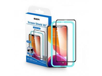 Ochranné tvrzené sklo pro iPhone X / XS / 11 Pro - ESR, Screen Shield 3D (s aplikátorem)