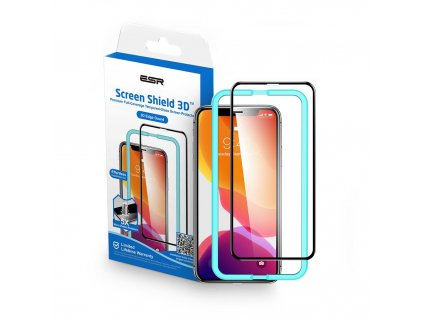 Ochranné tvrzené sklo pro iPhone XS MAX / 11 Pro MAX - ESR, Screen Shield 3D (s aplikátorem)