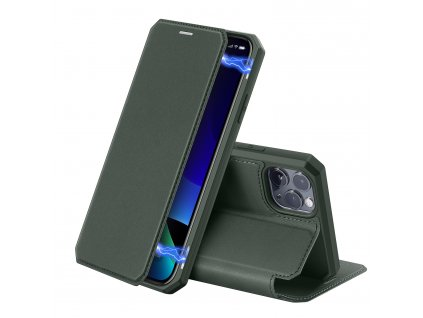 Knížkové pouzdro na iPhone 11 Pro - DuxDucis, SkinX Green
