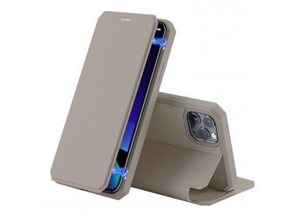 Knížkové pouzdro na iPhone 11 Pro - DuxDucis, SkinX Gold