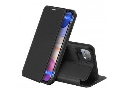 Knížkové pouzdro na iPhone 11 - DuxDucis, SkinX Black