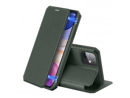 Knížkové pouzdro na iPhone 11 - DuxDucis, SkinX Green