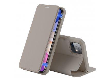 Knížkové pouzdro na iPhone 11 - DuxDucis, SkinX Gold