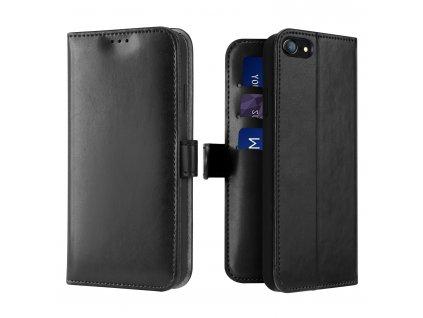 Knížkové pouzdro na iPhone 7 / 8 / SE (2020) - DuxDucis, Kado Black