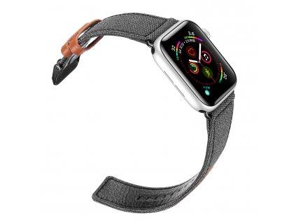 Kožený pásek / řemínek pro Apple Watch 38mm / 40mm - DuxDucis, Casual Black