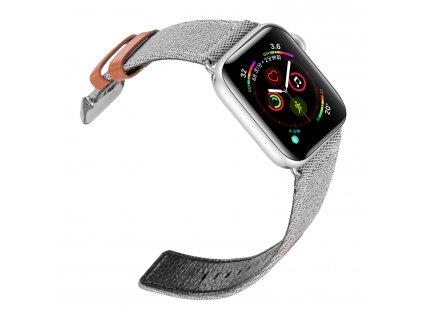 Kožený pásek / řemínek pro Apple Watch 38mm / 40mm - DuxDucis, Casual Gray