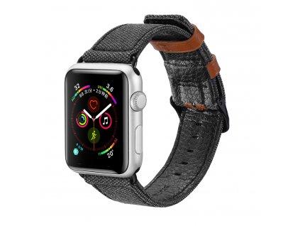 Kožený pásek / řemínek pro Apple Watch 42mm / 44mm - DuxDucis, Casual Black