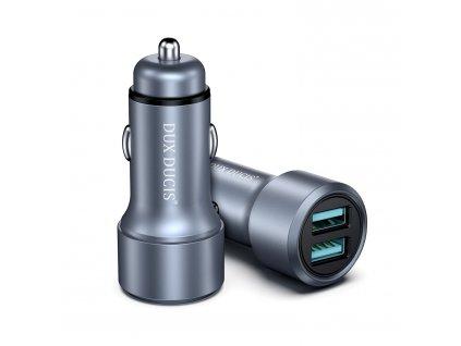 Auto-nabíječka pro iPhone a iPad - DuxDucis, B40 QC+QC 36W (2x USB)