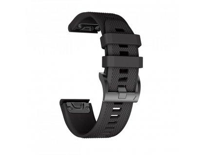 Řemínek pro Garmin Fenix 5 / 6 / 6 PRO - Tech-Protect, Smooth Black