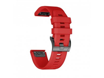 Řemínek pro Garmin Fenix 5 / 6 / 6 PRO - Tech-Protect, Smooth Red