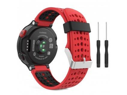 Řemínek pro Garmin Forerunner 220 / 230 / 235 / 630 / 735 - Tech-Protect, Smooth Red