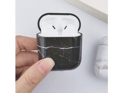 Pouzdro na sluchátka AirPods - Marble Black