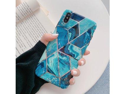 Ochranný kryt pro iPhone 7 / 8 / SE (2020) - Geometric Blue