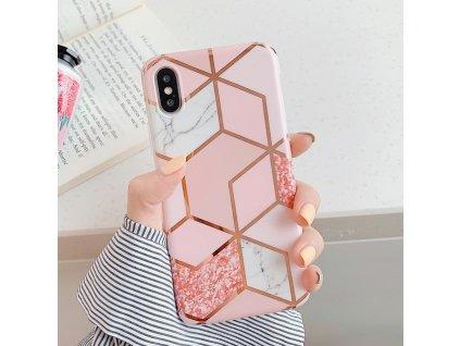 Ochranný kryt pro iPhone XS / X - Geometric Pink