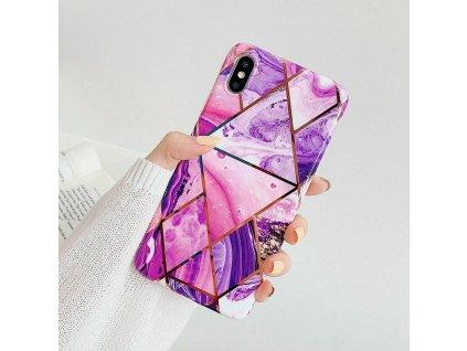 Ochranný kryt pro iPhone XS / X - Geometric Purple