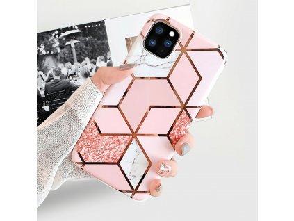 Ochranný kryt pro iPhone 11 Pro - Geometric Pink