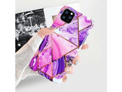 Ochranný kryt pro iPhone 11 Pro - Geometric Purple