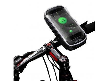 Cyklotaška / brašna na kolo s otvorem na mobilní telefon - WildMan, Sakwa XXS Black