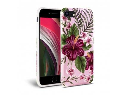 Ochranný kryt pro iPhone 7 / 8 / SE (2020) - Tech-Protect, Floral Pink