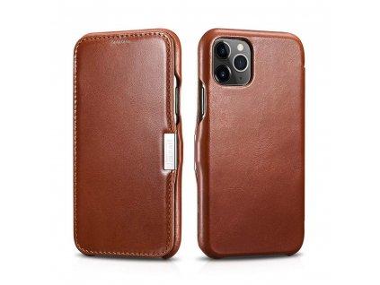 Knížkové pouzdro pro iPhone 11 Pro - iCarer, Vintage Brown